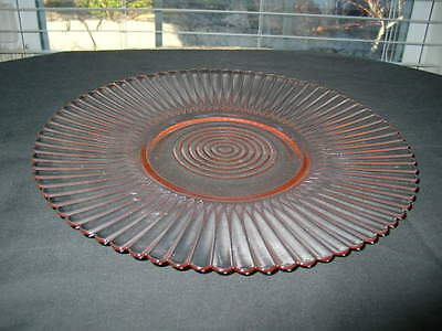 Pink Depression Glass Salver-Petal