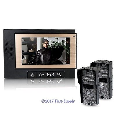"""7"""" Wired Video Door Phone Audio Visual Intercom Entry System 2V1 For Villa House"""