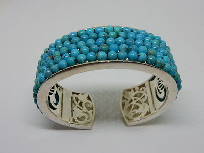 Whitney Kelly WK Sterling Silver & Turquoise Cuff Bracelet 63.3 Grams