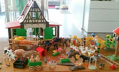 Vintage  Playmobil Farm Set With huge amount of  Extras.
