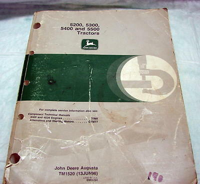 John Deere Technical Repair Manual 5200 5300 5400 5500 Tractor TM 1520