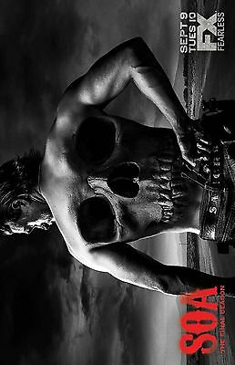 SONS OF ANARCHY SKULL BACK FINAL TV 11X17 Movie Poster collectible NEW CLASSIC