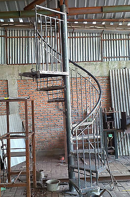 Spiral stairs, wrought iron,  1.98 metres brand new in packaging