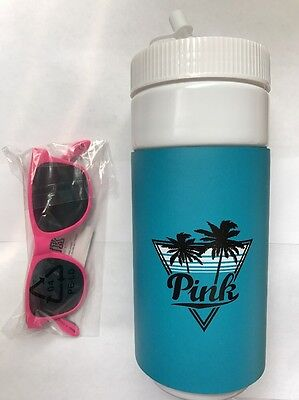 NWT~ Victoria's Secret Pink Water Bottle And Sunglasses~ Turquoise And Pink
