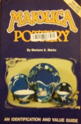 Majolica Pottery Value Guide Collectors Book Baskets Bowls Plates ++
