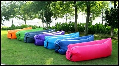 Lazy Lounger Inflatable Air Bed Hangout Camping Beach Bean Bag