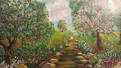 "Original art 12"" x 16 ""Pathway through the garden of Dreams"" Painting"