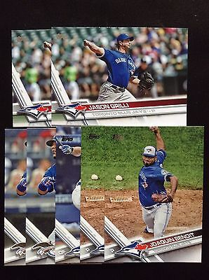 2017 Topps Series 1  5 Card Lot(Blue Jays)
