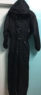 Vintage Couloir Women's Ski Suit Size 18 One Piece Hooded Insulated