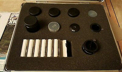 Zhumell 1.25 16 Piece Telescope Eyepiece Kit W/Case! Exclnt! FINAL REDUCTION!