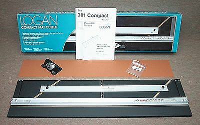 NIB! Logan Compact Mat Cutter Model 301 w/ 45° Bevel Cutting Head & Instructions