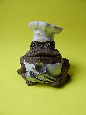 Toad Hollow CHEF TOAD COOKING Statue Figurine