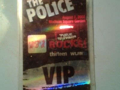 The Police authentic VIP 2007-2008 tour Backstage Pass