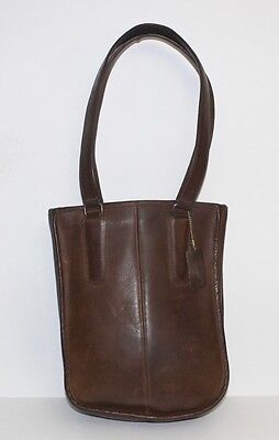 Coach vintage brown saddle leather distressed hand carry tote bag