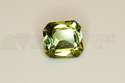 Green Tourmaline Octagon 0.65ct 5.5x5mm VS Loose Natural Gemstone Afghanistan