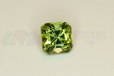 Green Tourmaline Octagon 0.72ct 5x5mm VS Loose Natural Gemstone Afghanistan