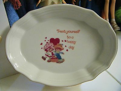 STRAWBERRY SHORTCAKE Porcelain Oval Dish - 1980