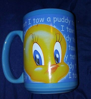 Looney Tunes TWEETY BIRD 1999 Tall Coffee Mug Cup Warner Brothers Free shipping
