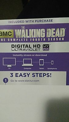 The Walking Dead Season 4 Digital HD Code only