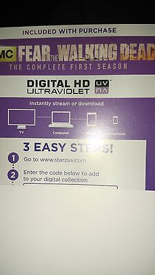 Fear The Walking Dead  Season 1 Digital HD Code only