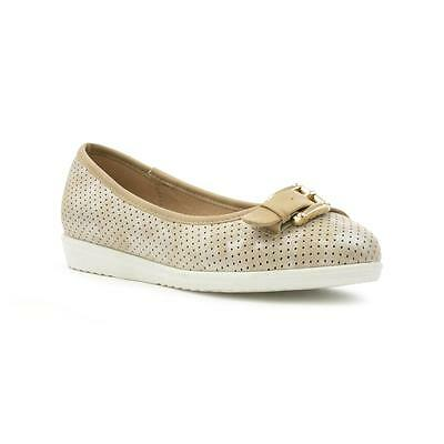 Cushion Walk Womens Gold Slip On Casual Shoe - Sizes 4,5,6,7,8