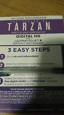 the Legend of Tarzan Digital HD Code only