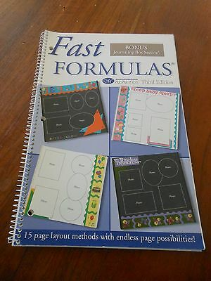 Scrapbooking CREATIVE MEMORIES Fast Formulas Third Edition.  FREE POSTAGE