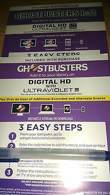 lot Ghostbusters answer the call plus  ghostbusters 1 - 2  Digital HD Code only