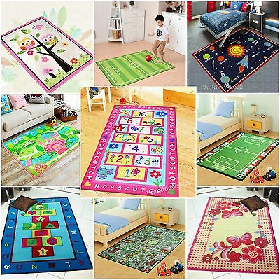 Kids Children Large Girls Boys Fun Rugs Bedroom Playroom Floor Mat Non Slip Play