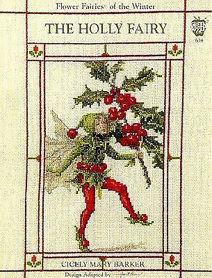The Holly Flower Fairy - Cross Stitch Chart - FREE POST