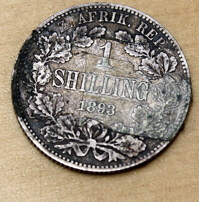 1893 South Africa 1 Shilling Silver