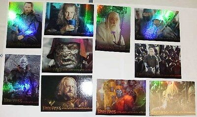 Lord of the Rings Return of the King Prismatic Foil Card Set