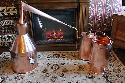 SALE COPPER MOONSHINE Still W/ Reflux Top and Condensing Can Thump