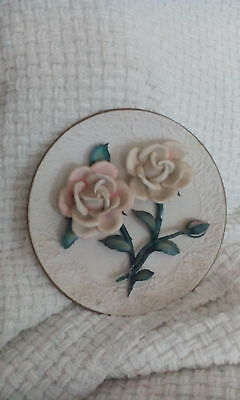 The Franklin Mint 'the Roses Of Capodimonte' Limited Edition 3D Plate
