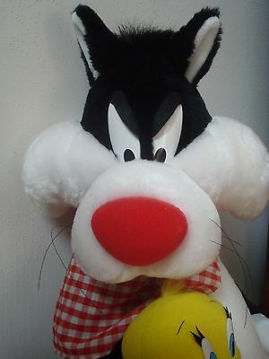 Warner Brothers Sylvester and tweety Large Plush 30 Inches