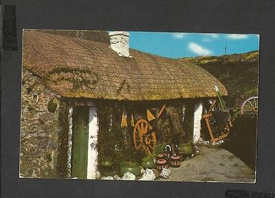 Vintage Colour Postcard A Manx Cottage Isle -of -Man  posted 1979