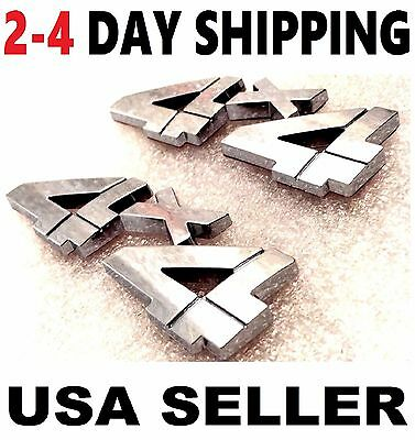 X2 Pieces RED 4 X 4 EMBLEM 4X4 CAR Truck Trunk TOYOTA Logo SIGN ornament BADGE