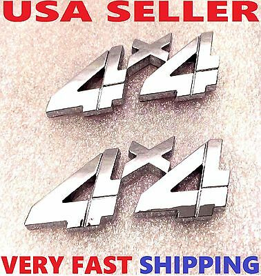 X2 Chrome 4 X 4 EMBLEM 4X4 CAR truck TOYOTA logo decal SUV SIGN ornament BADGE