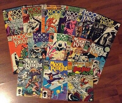 MOONKNIGHT 1sT Series LOT OF 14 MARVEL SUPERHEROES COMIC BOOKS #'s 7-36 +