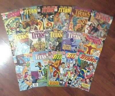 THE NEW TEEN TITANS  LOT OF 16 DC SUPERHEROES COMIC BOOKS #'s 26-95