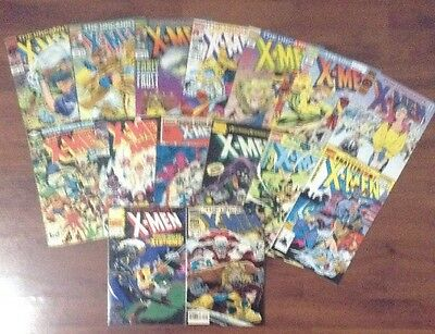 THE UNCANNY X-MEN LOT OF 15 MARVEL SUPERHEROES COMIC BOOKS #'s 312-318 + ANNUALS