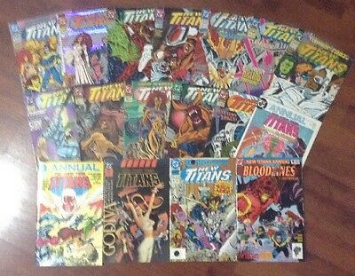 THE NEW TITANS LOT OF 17 DC SUPERHEROES COMIC BOOKS #'s 98-111+ANNUALS