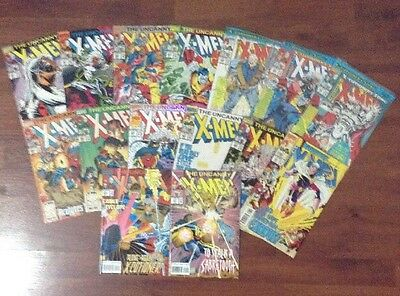 THE UNCANNY X-MEN LOT OF 15 MARVEL SUPERHEROES COMIC BOOKS #'s 290-311