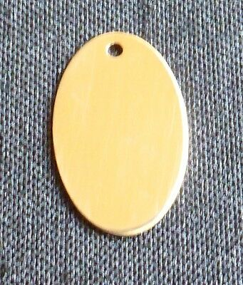 Gold filled oval flat stamping blank engraving blank charm jewelry