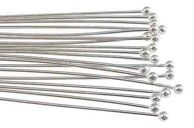 Sterling silver headpins with 2mm ball end jewelry supplies findings craft