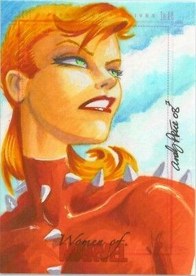 2008 Women of Marvel PHOENIX sketch by Andy Price