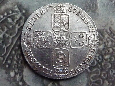 sixpence coin 1757 very high grade