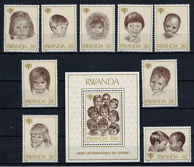 Ruanda - Mi.Nr.992-1000 +  Block 86, Year of the Child, ** MNH #14-5