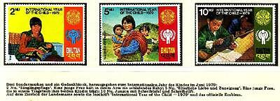 Bhutan - Mi.Nr. 728 A-730 A, Year of the Child,** MNH#14-5
