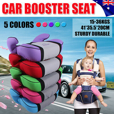 New Car Booster Seat Safe Sturdy Baby Kid Children Fit 3 To 12 Years 15-36kg OZ